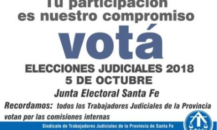 5 DE OCTUBRE: ELECCIONES JUDICIALES 2018