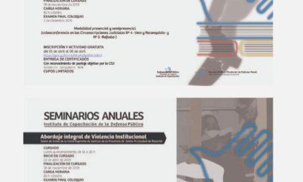 Curso Anual de Capacitación en Defensa Pública y AbordajeIntegral de Violencia Institucional