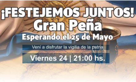 GRAN PEÑA ESPERANDO EL 25 DE MAYO