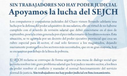 NUESTRA FEDERACIÓN DE TRABAJADORES JUDICIALES, FE-SITRAJU, APOYA LA LUCHA DE LOS JUDICIALES DE CHACHO