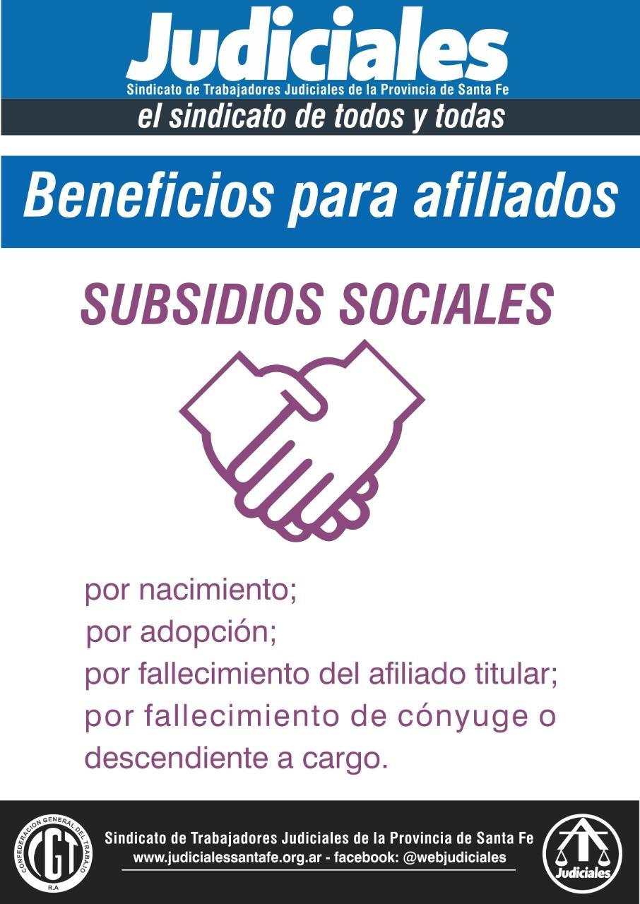 SUBSIDIOS SOCIALES