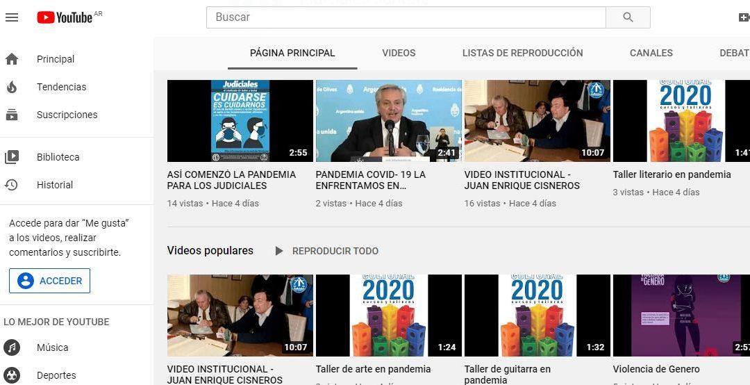 NUEVO CANAL DE YOUTUBE DEL SINDICATO: ¡SOMOS TENDENCIA!