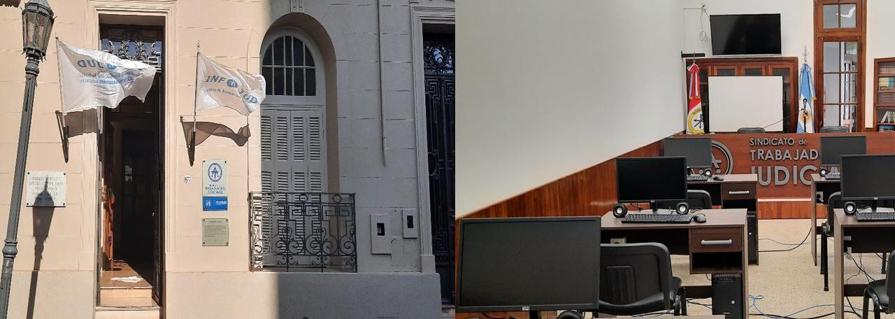 INFOJUD TIENE SU NUEVO SALÓN DE USOS MÚLTIPLES «COMPAÑERO GUILLERMO LEGUIZAMÓN» EN LA SEDE GREMIAL DE LA CIUDAD DE SANTA FE